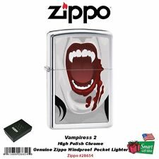 Zippo Vampiress 2 Lighter, Fangs, High Polish Chrome, Windproof #28654