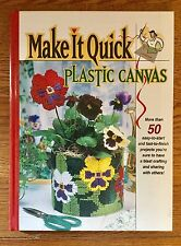 Plastic Canvas Make It Quick Hardback Pattern Book - NICE Condition