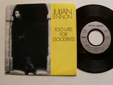 """JULIAN LENNON : Too late for goodbyes / Well I don't know 7"""" 45T CHARISMA 90179"""