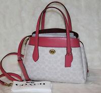 Coach Lora Carryall 30 Signature Satchel Shoulder Crossbody Bag Purse Handbag