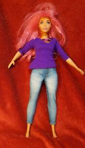 Mattel BARBIE Doll Plus Size Curvy - Big Pink Hair  Ref: FWV26 M11l - 2016