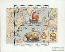 Iceland block13 (complete issue) unmounted mint / never hinged 1992 Discovery of