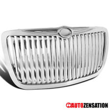 For 2004 2005-2010 Chrysler 300/ 300C Bentley Style Chrome Vertical Grille