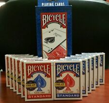 24 Decks of Bicycle Playing Cards * Standard Faces * 12-Red & 12-Blue *