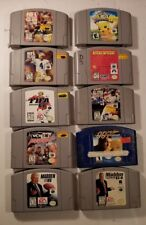 LOOK! LOT OF 10 DIFFERENT NES NINTENDO SUPER NINTENDO N64 GAMES. (O-13#10-dm)