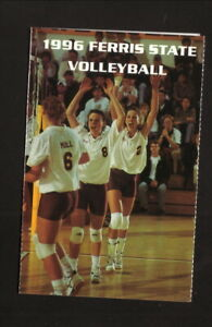 Ferris State Bulldogs--1996 Volleyball Pocket Schedule--Lundberg Bookstore