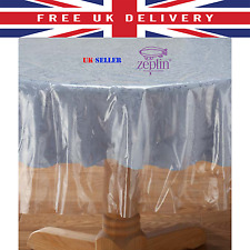 TRANSPARENT PVC TABLECLOTH CLEAR PROTECTOR VINYL OILCLOTH WIPECLEAN TABLE COVER