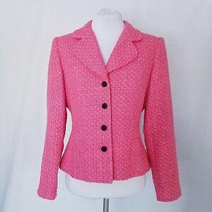 Talbots Pink Tweed Blazer size 8
