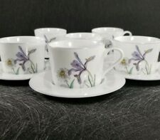 Set of 6 Block Spal Watercolors Hillside by Mary Lou Goertzen  Cup and Saucer