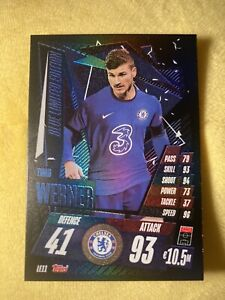 Match Attax 2020/21 - Timo Werner Blue Limited Edition Card ULTRA RARE Chelsea