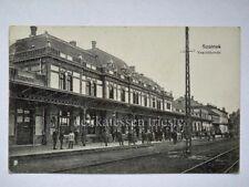 SZOLNOK TRAIN STATION Vasutallomas Ungheria Hungary AK old postcard