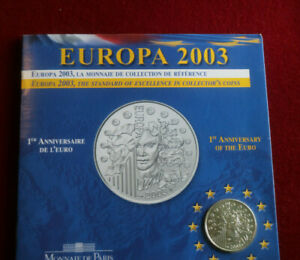 Monnaie de Paris, 2003, Geburtstag des Euro, Frankreich, Silber Gedenkmünze