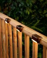 Set Of 3 Solar Deck Lights Porch Patio Steps Yard Outdoor Lighting Home Decor