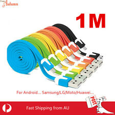 Micro USB Cable Mini Flat Data Charger Line Samsung Galaxy S5 S6 HTC Android v8