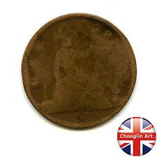 A British Bronze 1874 H VICTORIA PENNY Coin (Heaton)           (Ref:1874_132/33)