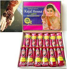 FRESH Box of 12 CONES DARK BROWN Henna Mehndi *NO CHEMICALS 100% NATURAL & SAFE*