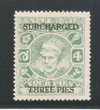 INDIA COCHIN STATE 1943 KGVI. 3P on 4P SG92 MNH STAMP.