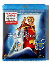 Disney The Sword in the Stone Blu Blu-ray DVD Digital Copy Merlin King Arthur