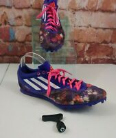Adidas Arriba IV Mesh Purple Red Track Mid Distance Spikes Men's Size 13
