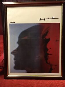 Andy Warhol 1986 Original Lithograph Hand Signed with COA, New Frame