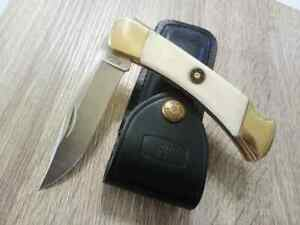 *RARE* CUSTOM BUCK110 BULLET BONE HUNTING POCKET KNIFE = 1 IN THE WORLD *RARE*