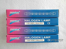DEAL OF FOUR! MORELUX HALOGEN LAMPS 110V 200W 118MM R7s