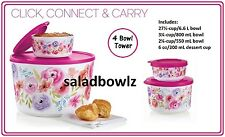 TUPPERWARE New ART OF SPRING COMPANION SET, SNACK Bowl & DESSERT TOWER fREEsHIP!