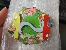 Disney Auction Pin Lilo Stitch in Rocket Cars Spinner LE500