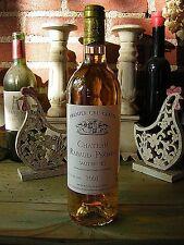 weine wine vin CHATEAU RABAUD PROMIS 2001 PREMIER GRAND CRU CLASSE SAUTERNES.