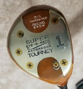 MacGregor Tourney Tommy Armour 945W SUPER Eye-O-Matic Persimmon Driver Golf Club
