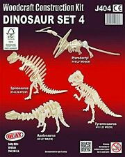 Dinosaur Set 4: Woodcraft Quay Construction Wooden  3D Model Kit J404 Age 5 plus