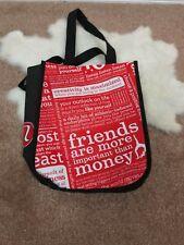Lululemon Shopping Bag Sz Small Reusable Graphic Lightweight Red Black