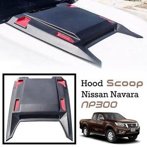 MATTE BLACK RED HOOD SCOOP COVER FOR NISSAN FRONTIER NAVARA NP300 D23 2013-2020