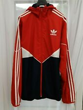 Adidas retro  style Jacket Red White blue size M Good condition