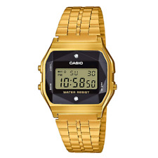 Casio Classic A159WGED-1DF Gold Stainless Steel Diamond Digital Watch