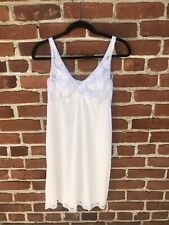 Vintage 70s Bridal Lingerie Slip White Lace Dress Honeymoon