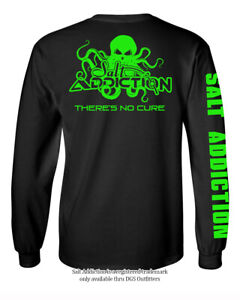 Salt Addiction t shirt long sleeve men's saltwater fishing apparel octopus tee