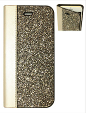Gray Silver Made with Swarovski Crystal Bedazzle Wallet Case Cover iPhone 7/8
