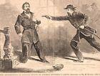 General Davis Assassinates General Nelson civil war Hagerstown MD. 1862 print