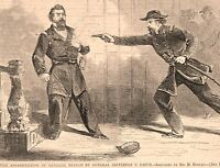 General Davis Assassinates General Nelson civil war Hagerstown MD. 1862 print