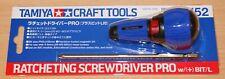 Tamiya 74152 Ratcheting Screwdriver Pro w/(+) Bit/L, For RC Car/Truck Kits, NIP