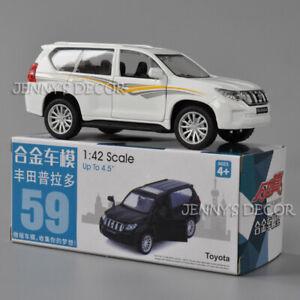 1:42 Diecast Car Model Toys Toyota Prado SUV Pull Back Miniature Collection