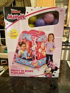NEW DIsney Minnie Mouse Inflatable Playland Ball Pit including 20 Balls Fun Play