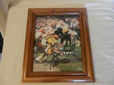 Jim Taylor #31 Green Bay Packers Signed Photograph Framed HOF 1976