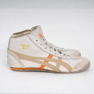 Onitsuka Tiger MEXICO Mid Runner TOKYO Shoes THL328 Cream/Orange US 10 EU 4 Rare