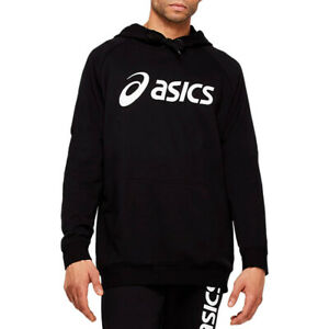 Asics Hommes Big OTH Sweat À Capuche Sweater Sport Top Noir Gym Chaud Respirant