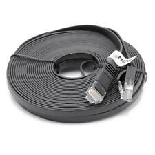 Ethernet câble Cat6 plat RJ45 noir 10m