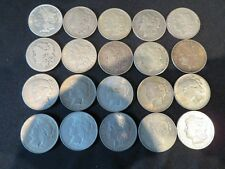 20 ASSORTED MORGAN & PEACE SILVER DOLLARS-FREE SHIPPING