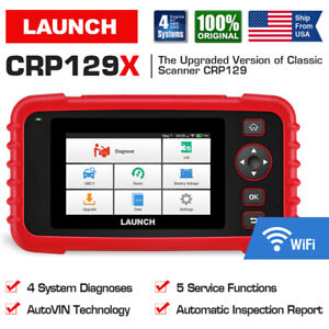 LAUNCH X431 CRP129X OBD2 ABS SRS Engine Diagnostic Tool Scanner TPMS Code Reader
