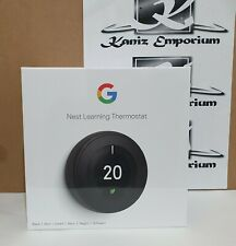 *BNIB* Google Nest Learning Thermostat, 3rd Generation, Black (T3029EX) X1 Unit